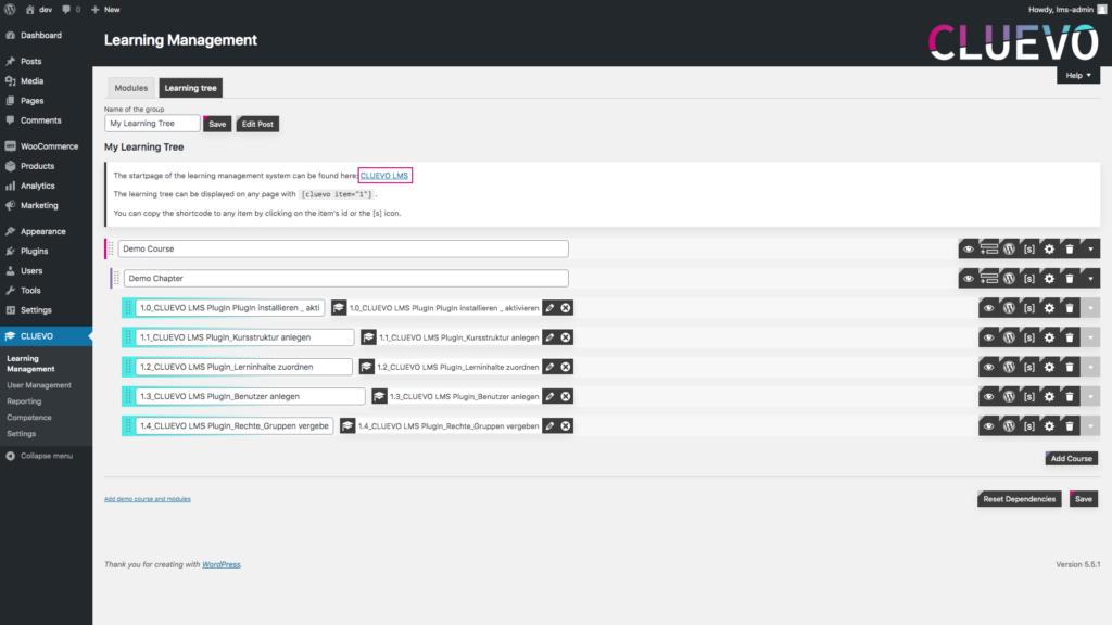 CLUEVO WordPress LMS eLearning plugin
