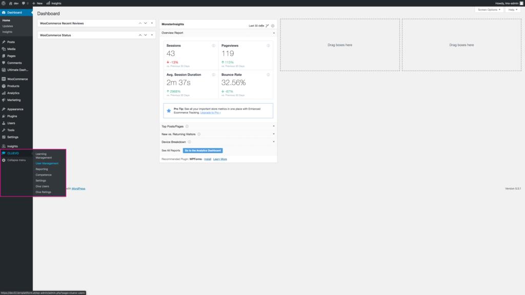 Step 1: Navigate to CLUEVO > User Management